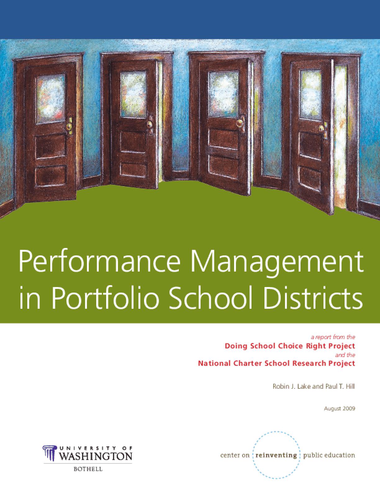 Performance Management in Portfolio School Districts