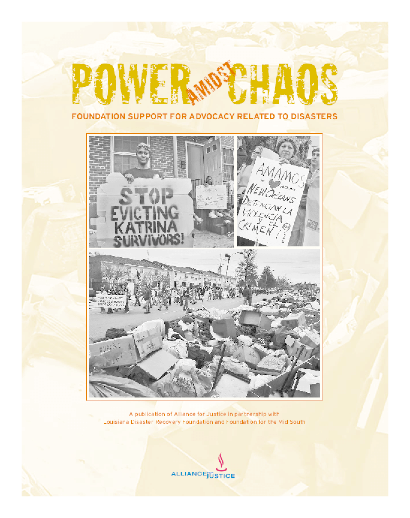 Power Amidst Chaos: Foundation Support for Advocacy Related to Disasters