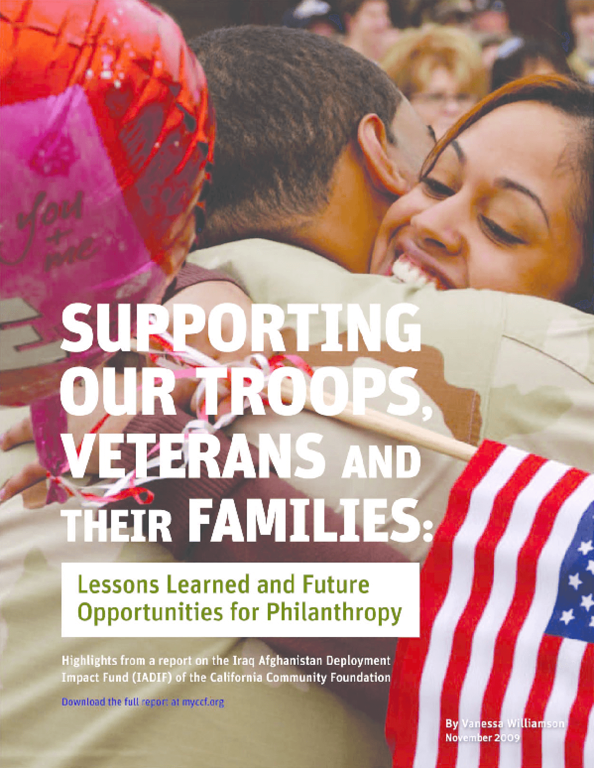 Supporting Our Troops, Veterans and Their Families: Lessons Learned and Future Opportunities for Philanthropy