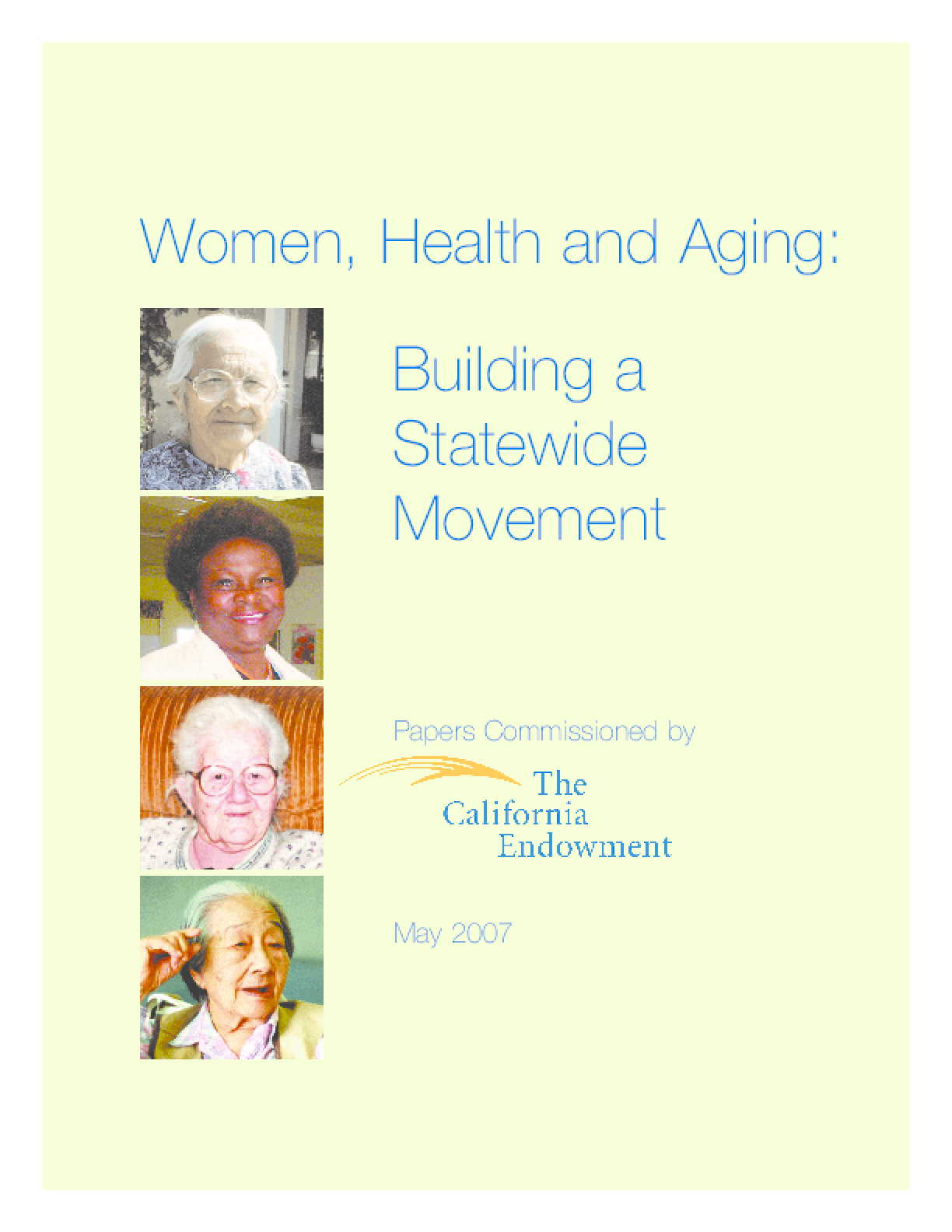 Women, Health and Aging: Building a Statewide Movement