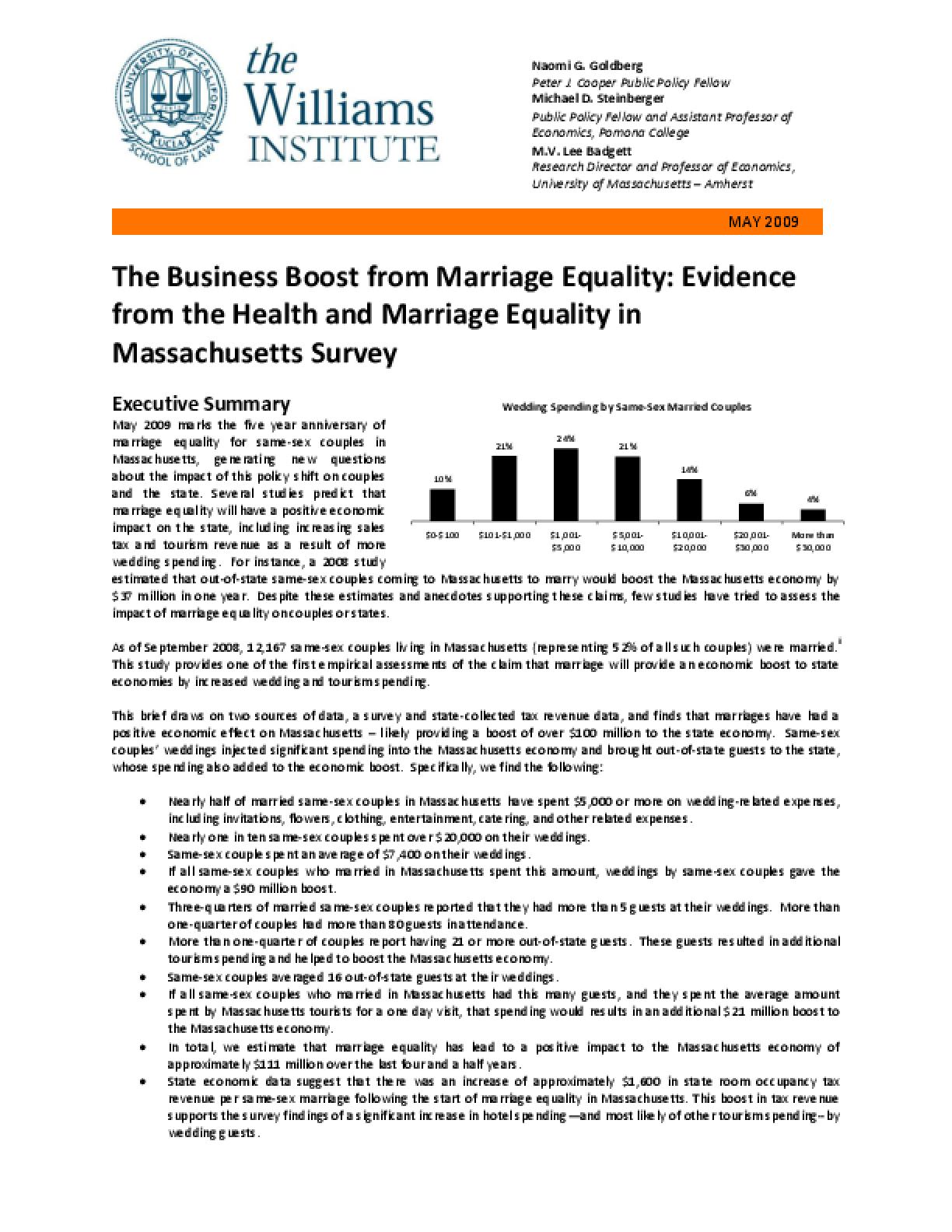 The Business Boost from Marriage Equality: Evidence from the Health and Marriage Equality in Massachusetts Survey