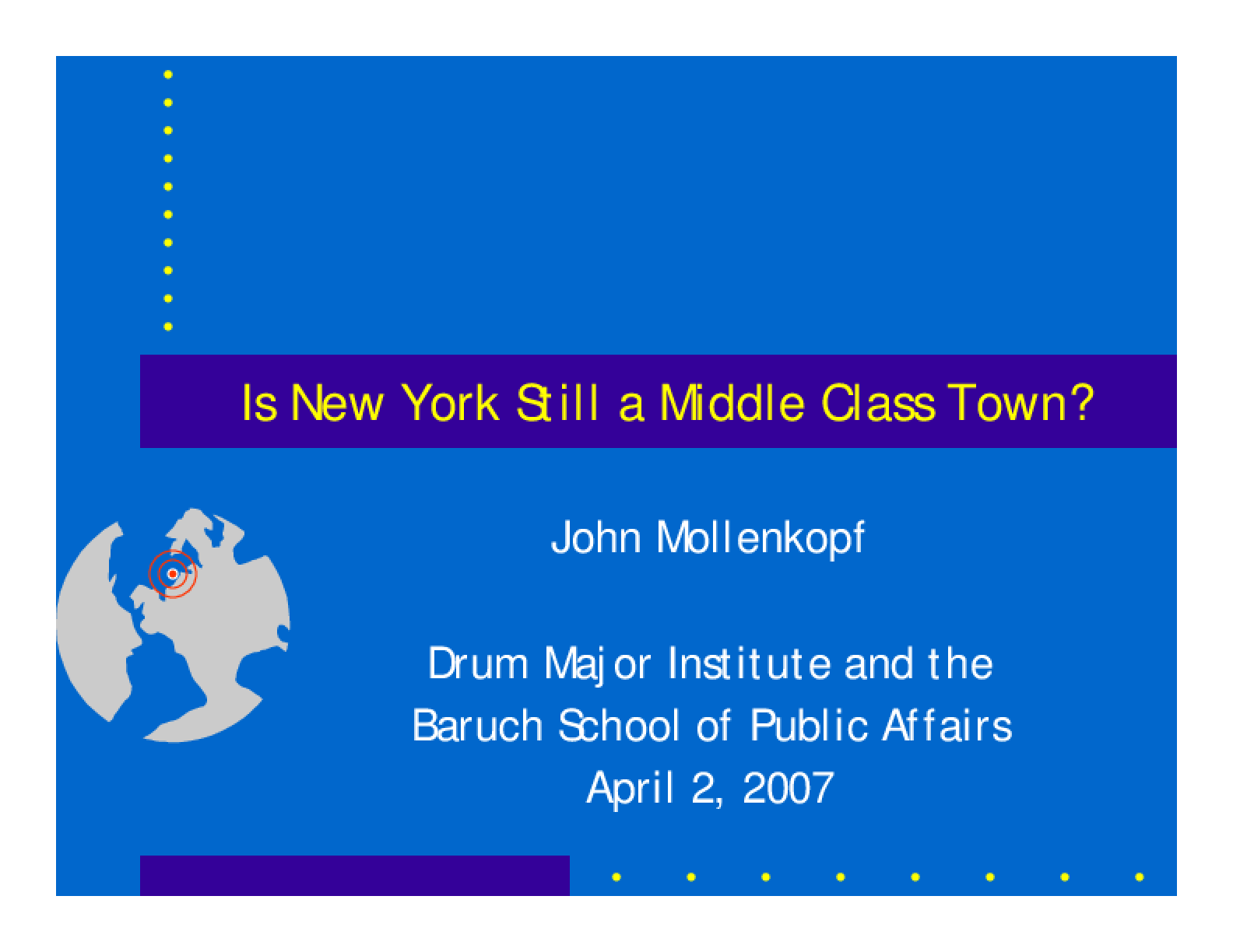 New York's Changing Middle Class