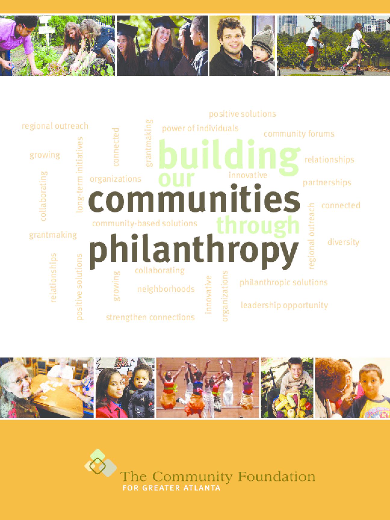 Building Our Communities Through Philanthropy