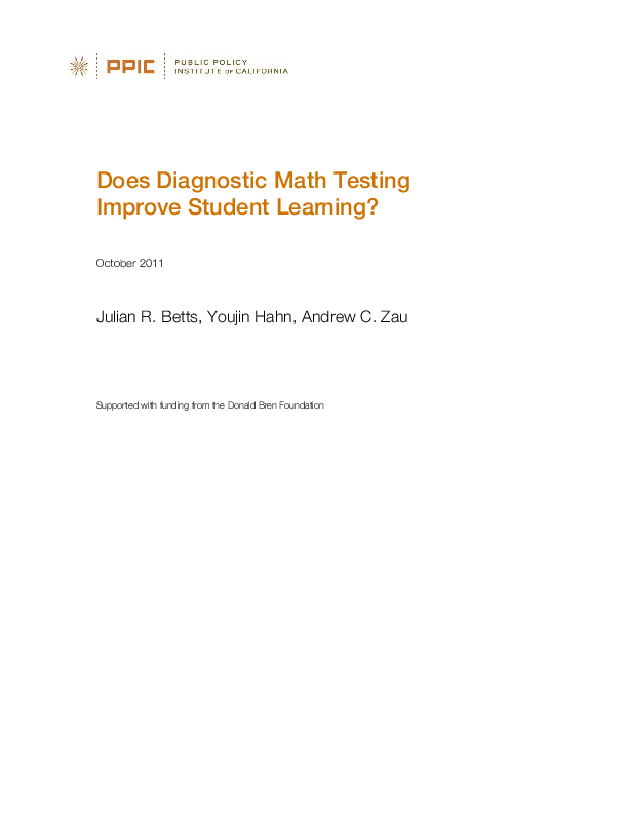 Does Diagnostic Math Testing Improve Student Learning?
