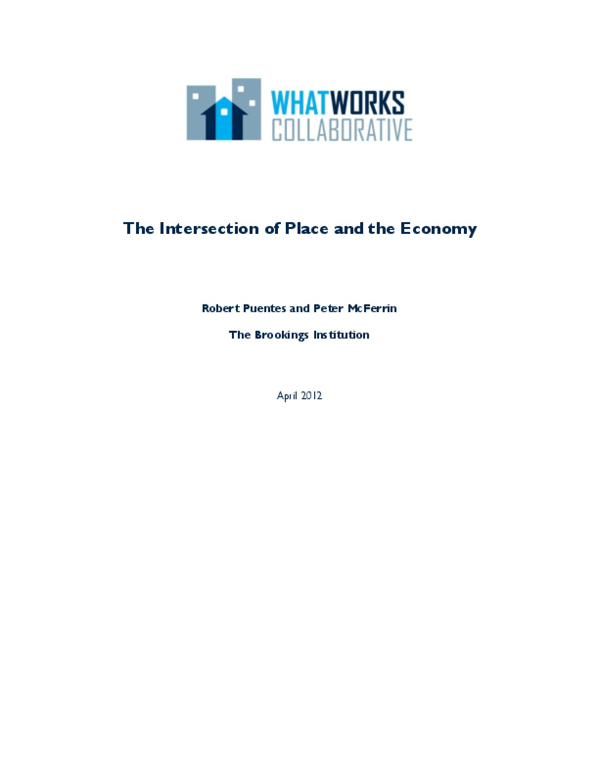 The Intersection of Place and the Economy