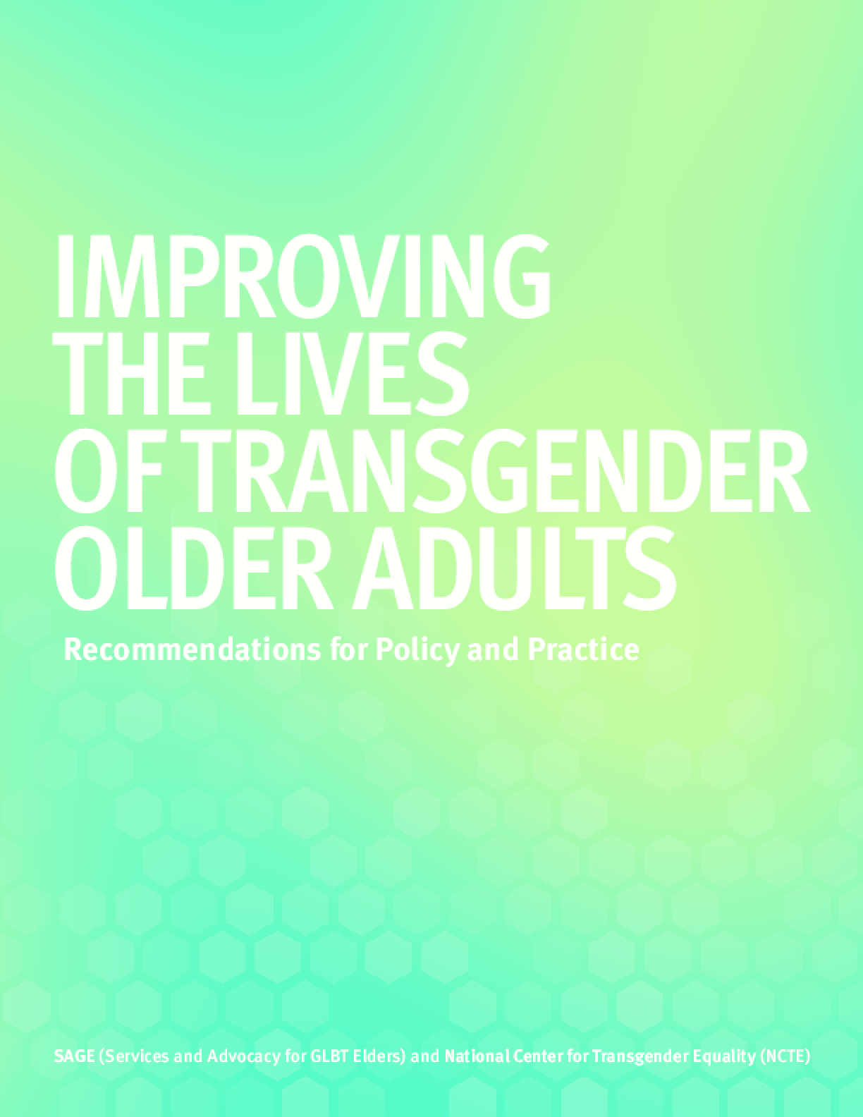 Improving the Lives of Transgender Older Adults: Recommendations for Policy and Practice