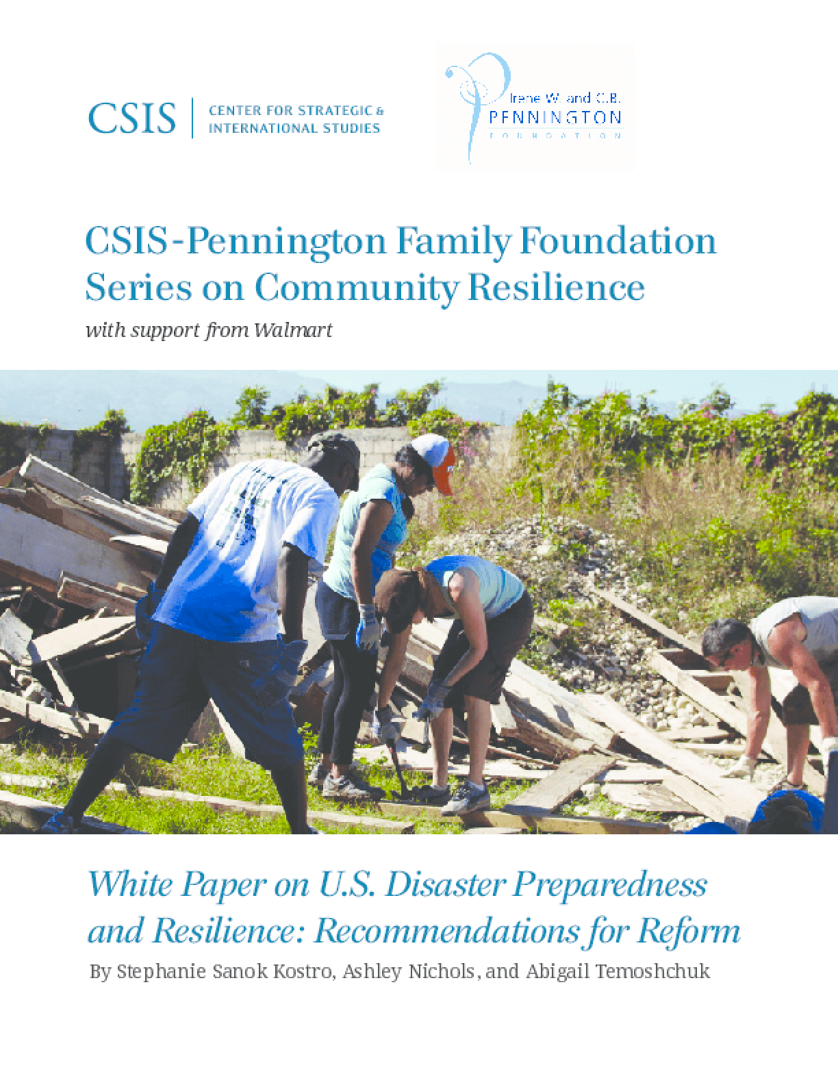 White Paper on U.S. Disaster Preparedness and Resilience: Recommendations for Reform
