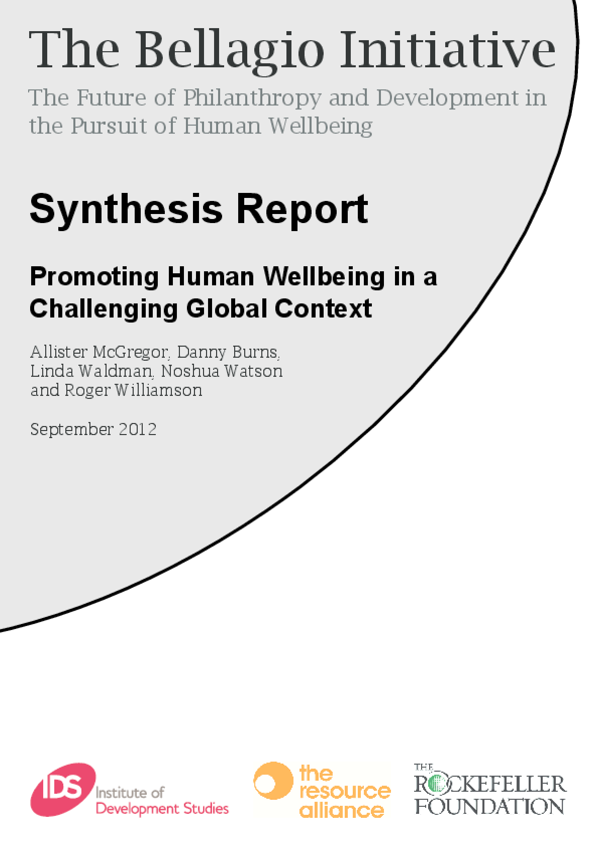 The Future of International Development and Philanthropy: Promoting Human Wellbeing in a Challenging Global Context