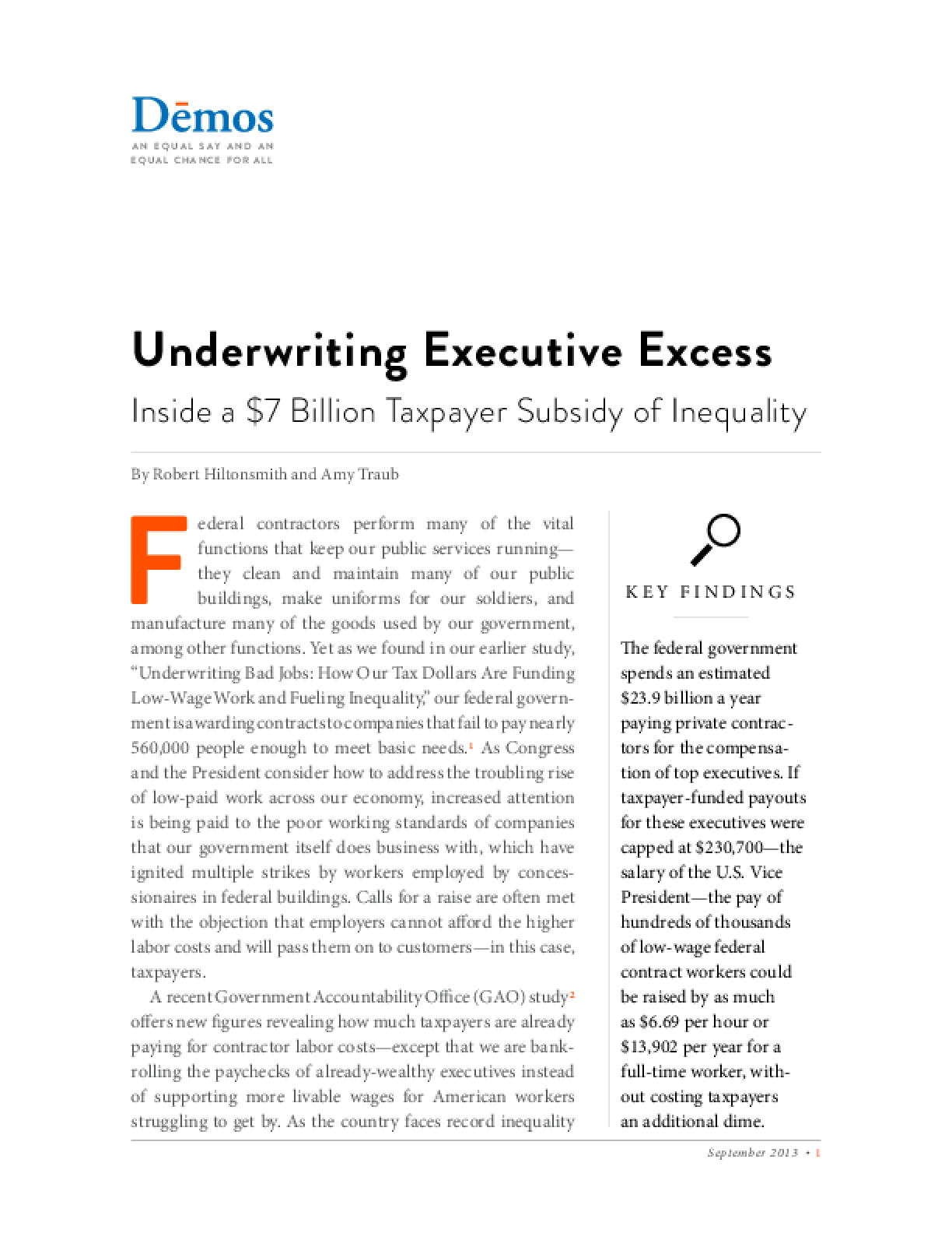 Underwriting Executive Excess: Inside a $7 Billion Taxpayer Subsidy of Inequality