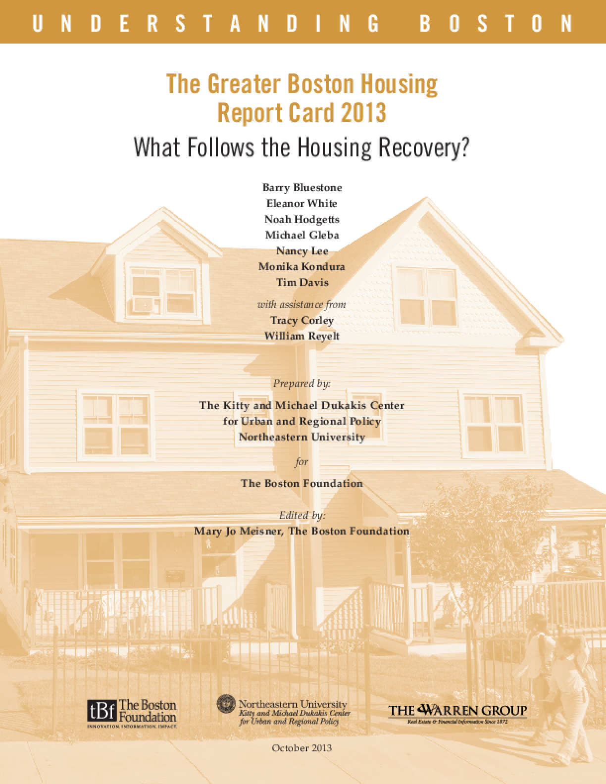 The Greater Boston Housing Report Card 2013: What Follows The Housing Recovery?