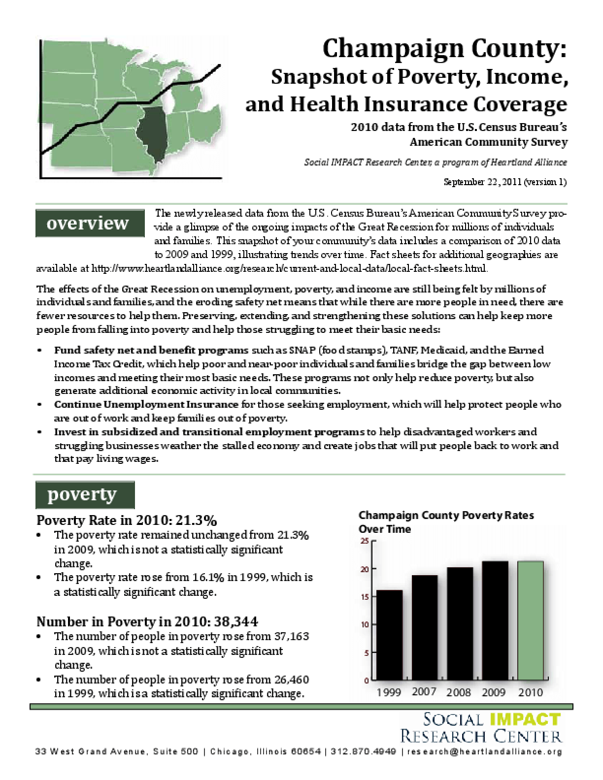 Champaign County: Snapshot of Poverty, Income, and Health Insurance Coverage