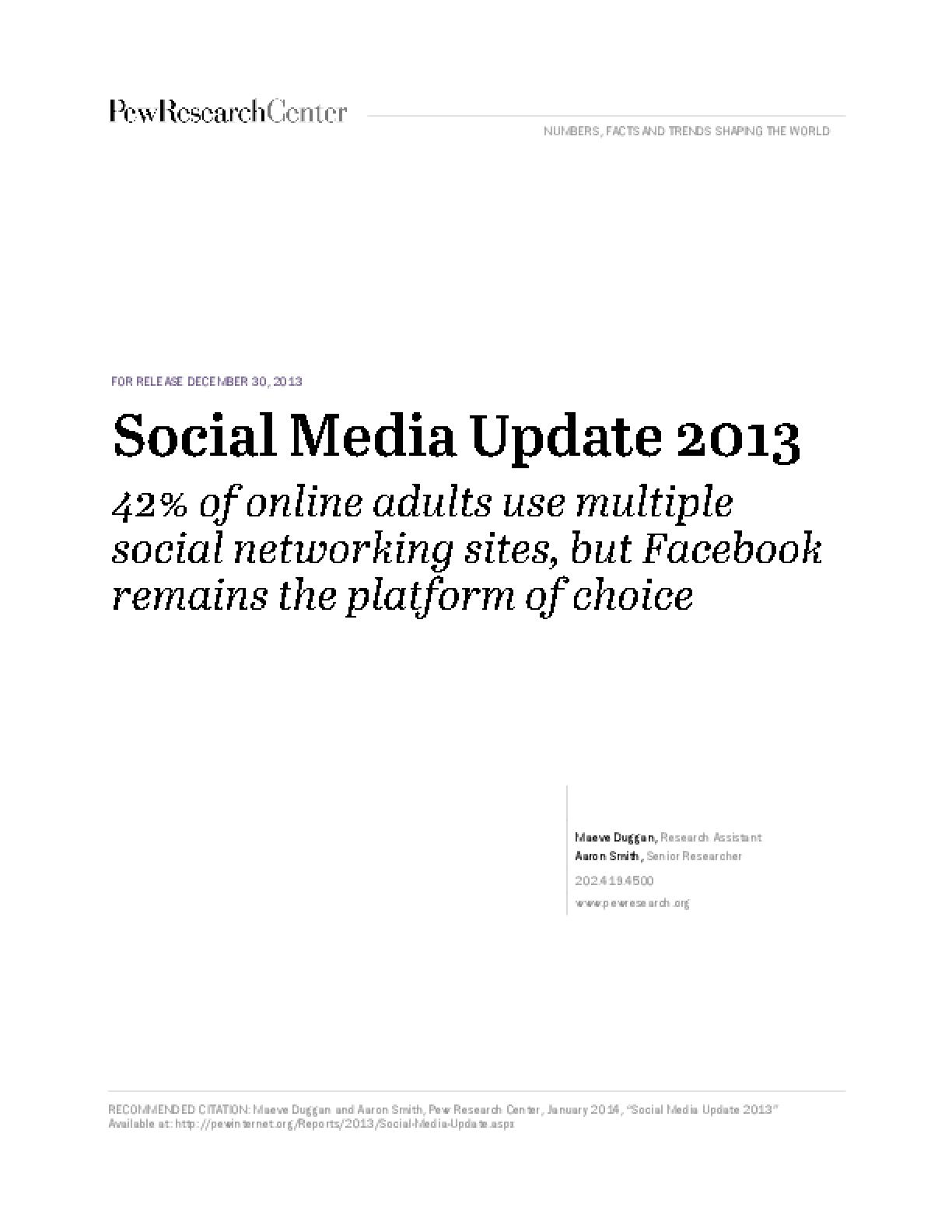 Social Media Update 2013