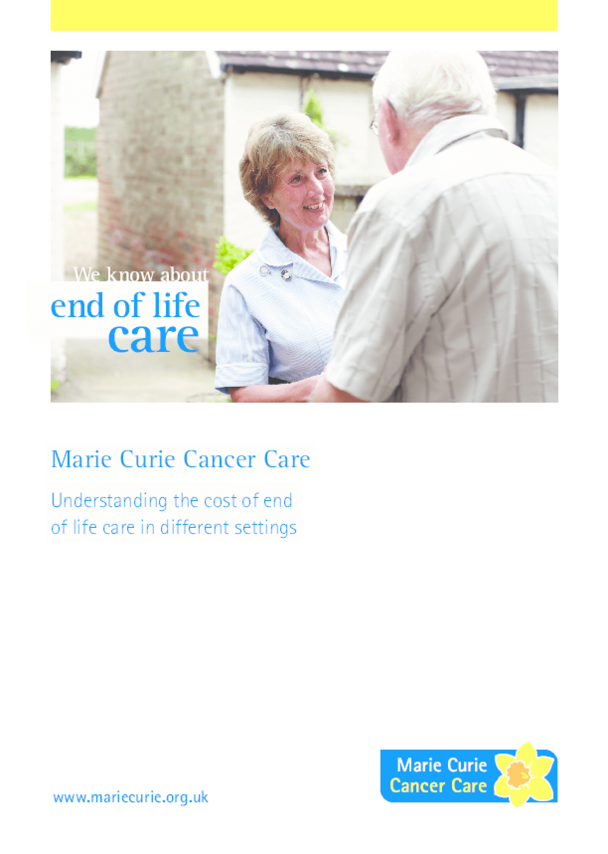 Understanding the Cost of End-of-Life Care in Different Settings