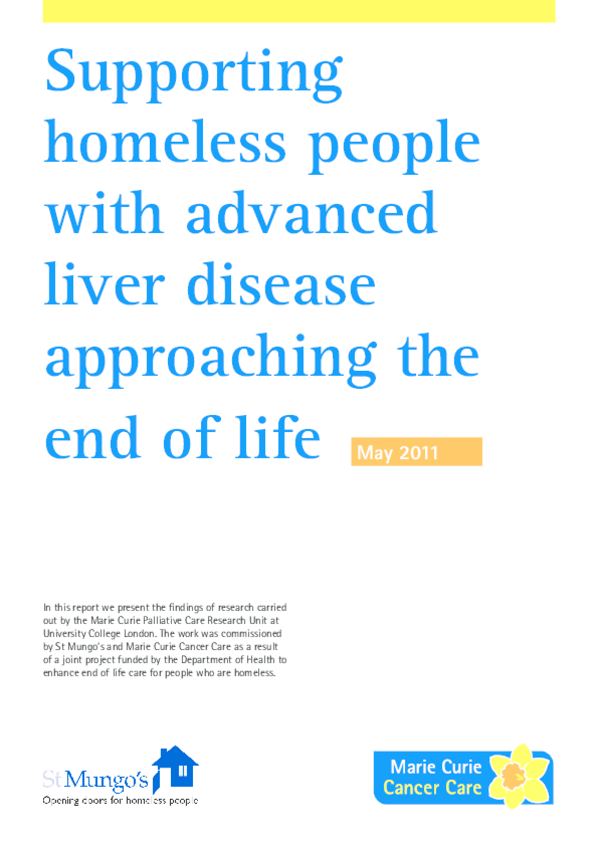 Supporting Homeless People with Advanced Liver Disease Approaching the End of Life