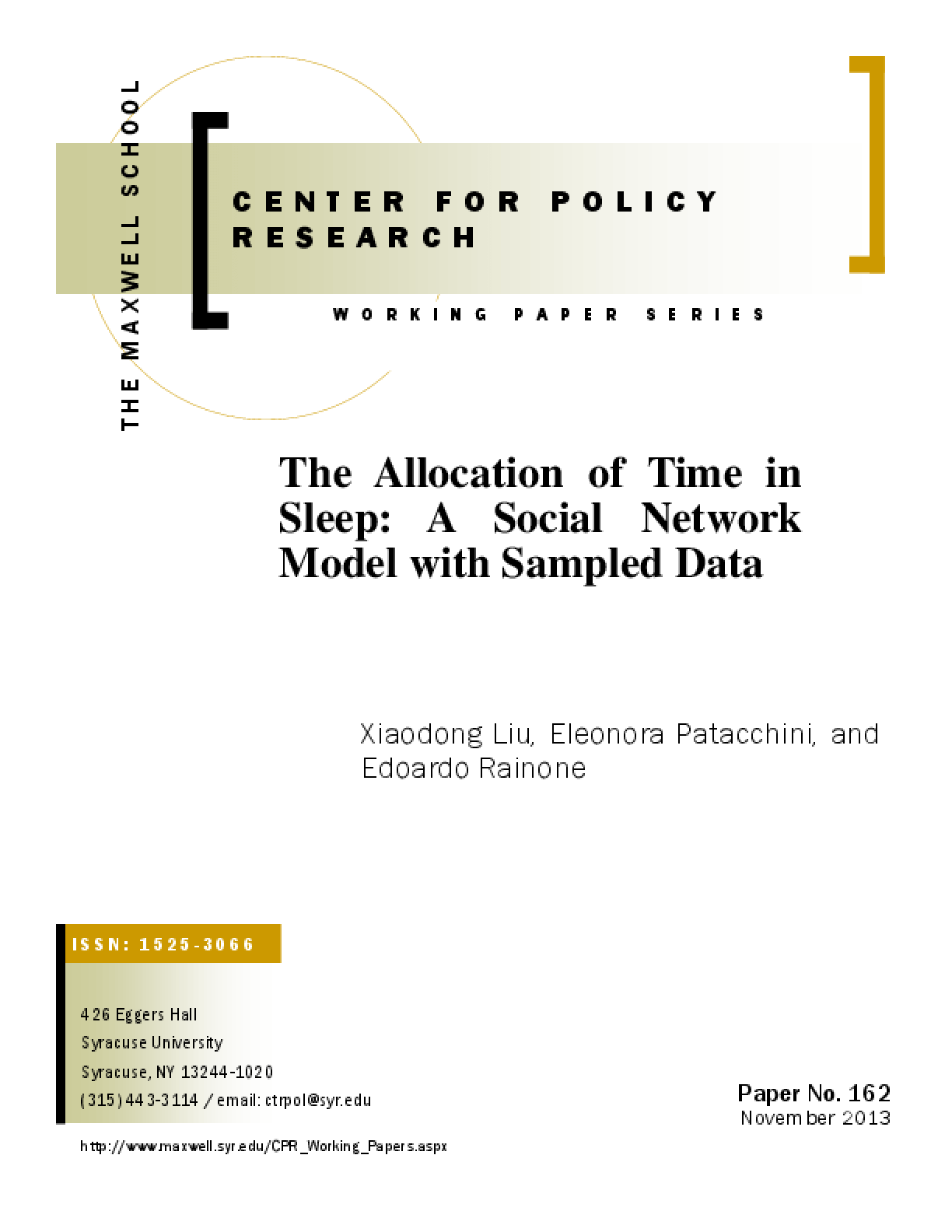 The Allocation of Time in Sleep: A Social Network Model with Sampled Data