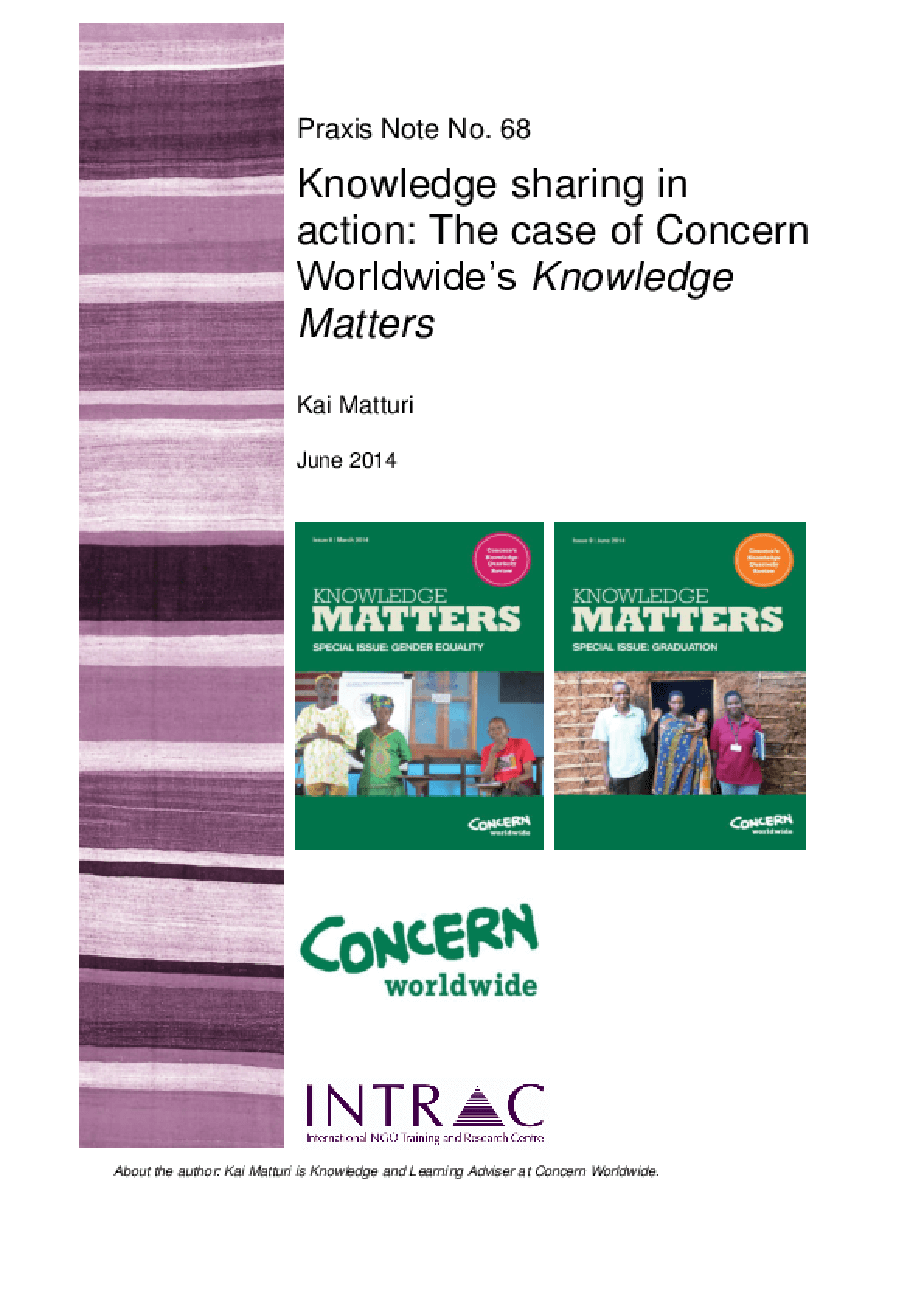 Knowledge Sharing in Action: The Case of Concern Worldwide's Knowledge Matters