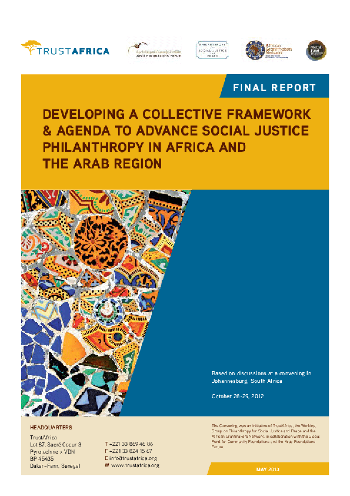 Developing a Collective Framework and Agenda to Advance Social Justice Philanthropy in Africa and the Arab Region