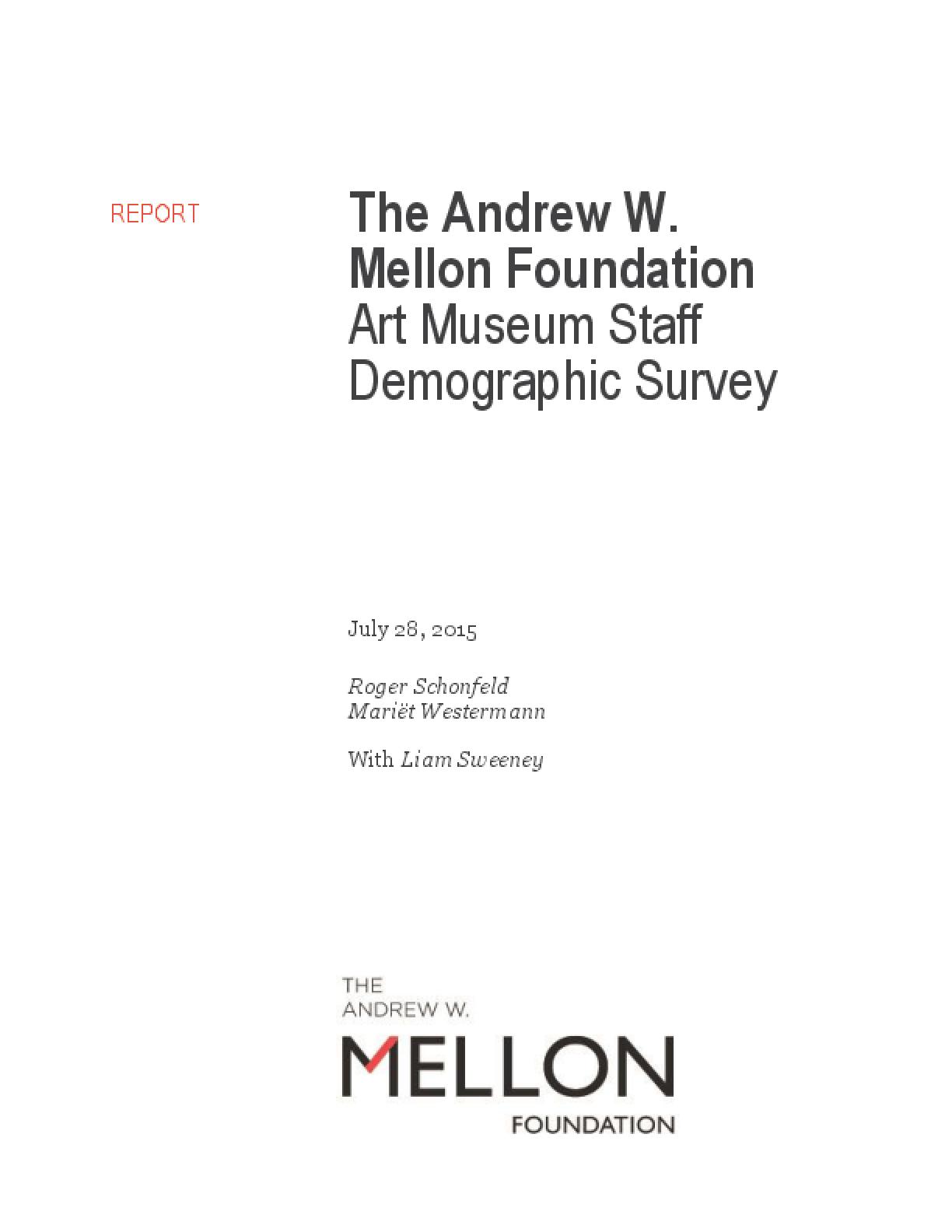 The Andrew W. Mellon Foundation Art Museum Staff Demographic Survey