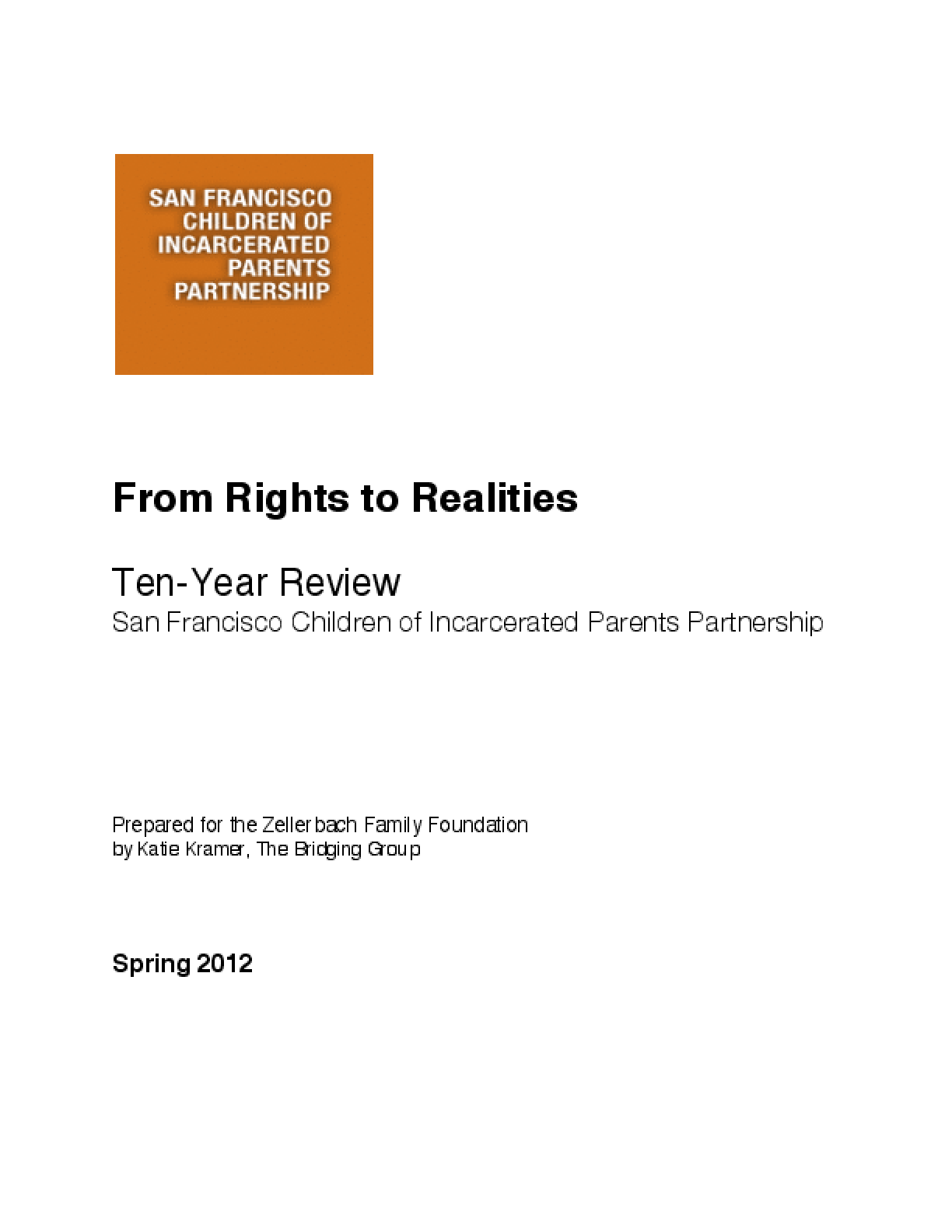 SFCIPP - From Rights to Realities