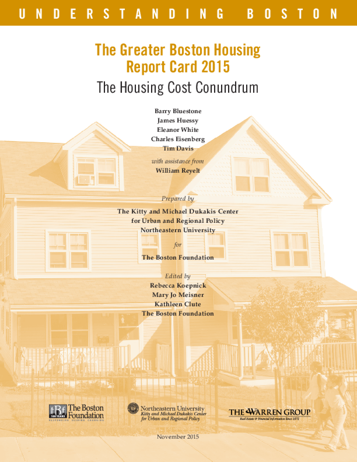 The Greater Boston Housing Report Card 2015: The Housing Cost Conundrum
