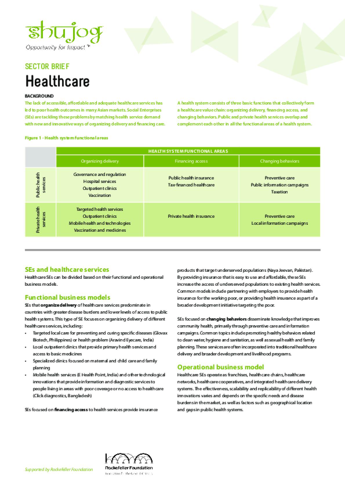 Health Sector Brief
