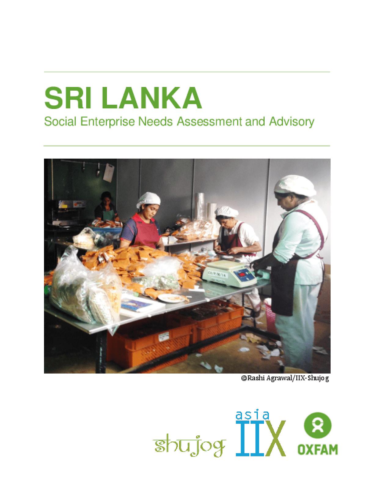 Sri Lanka Social Enterprise Needs Assessment and Advisory