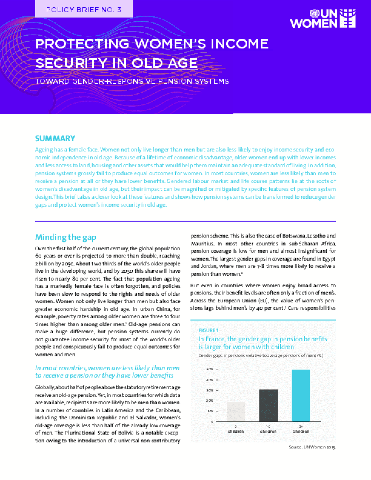 Protecting Women's Income Security in Old Age: Toward Gender-Responsive Pension Systems