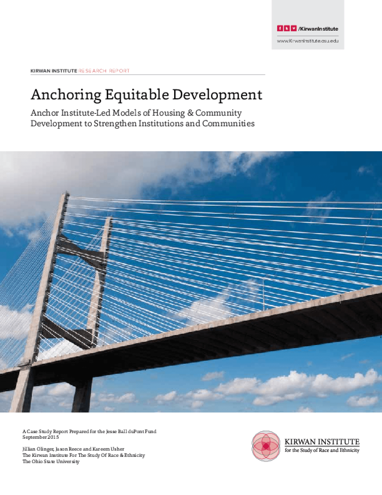 Anchoring Equitable Development: Anchor Institute-Led Models of Housing and Community Development to Strengthen Institutions and Communities
