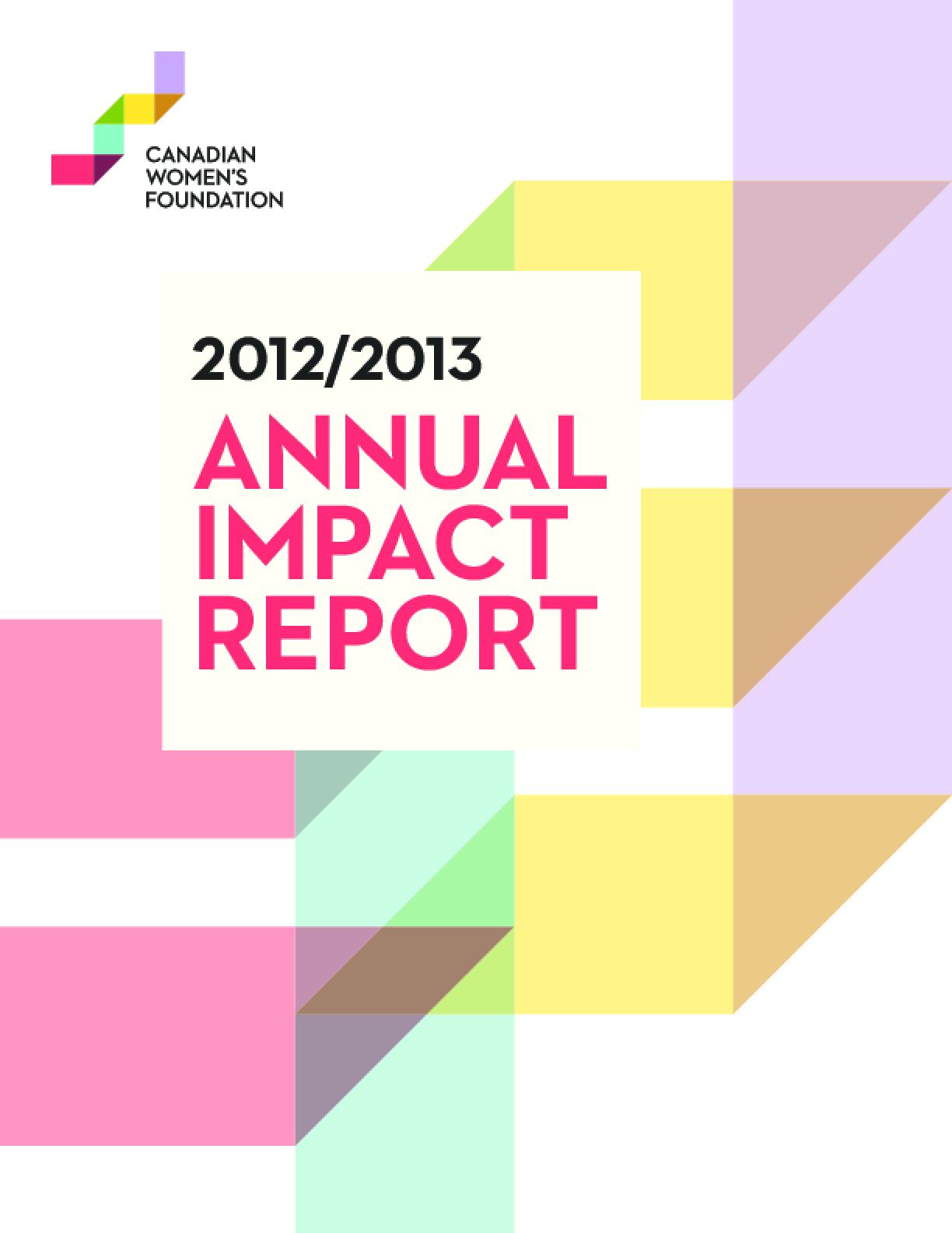 2012/2013 Annual Impact Report