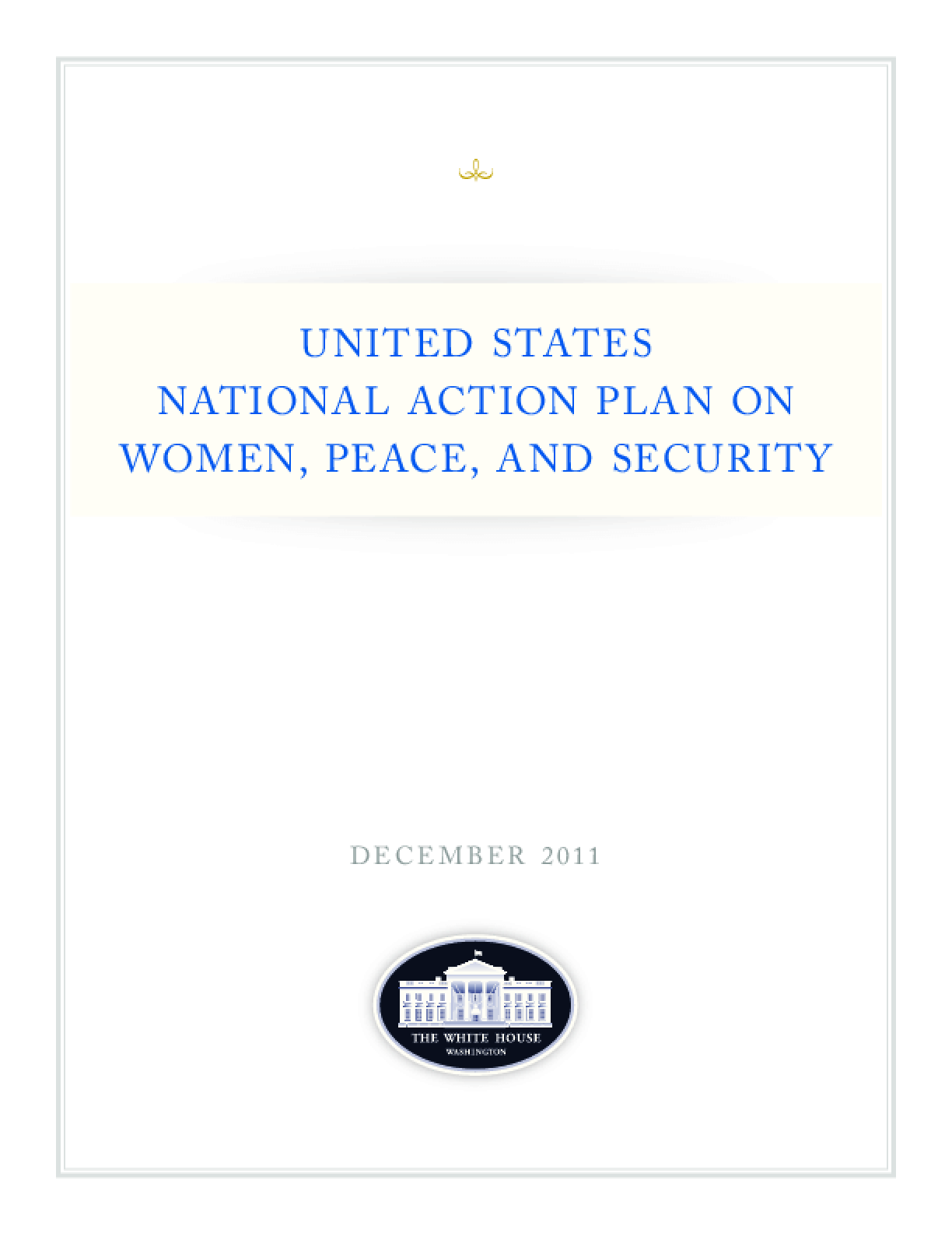 United States National Action Plan on Women, Peace and Security