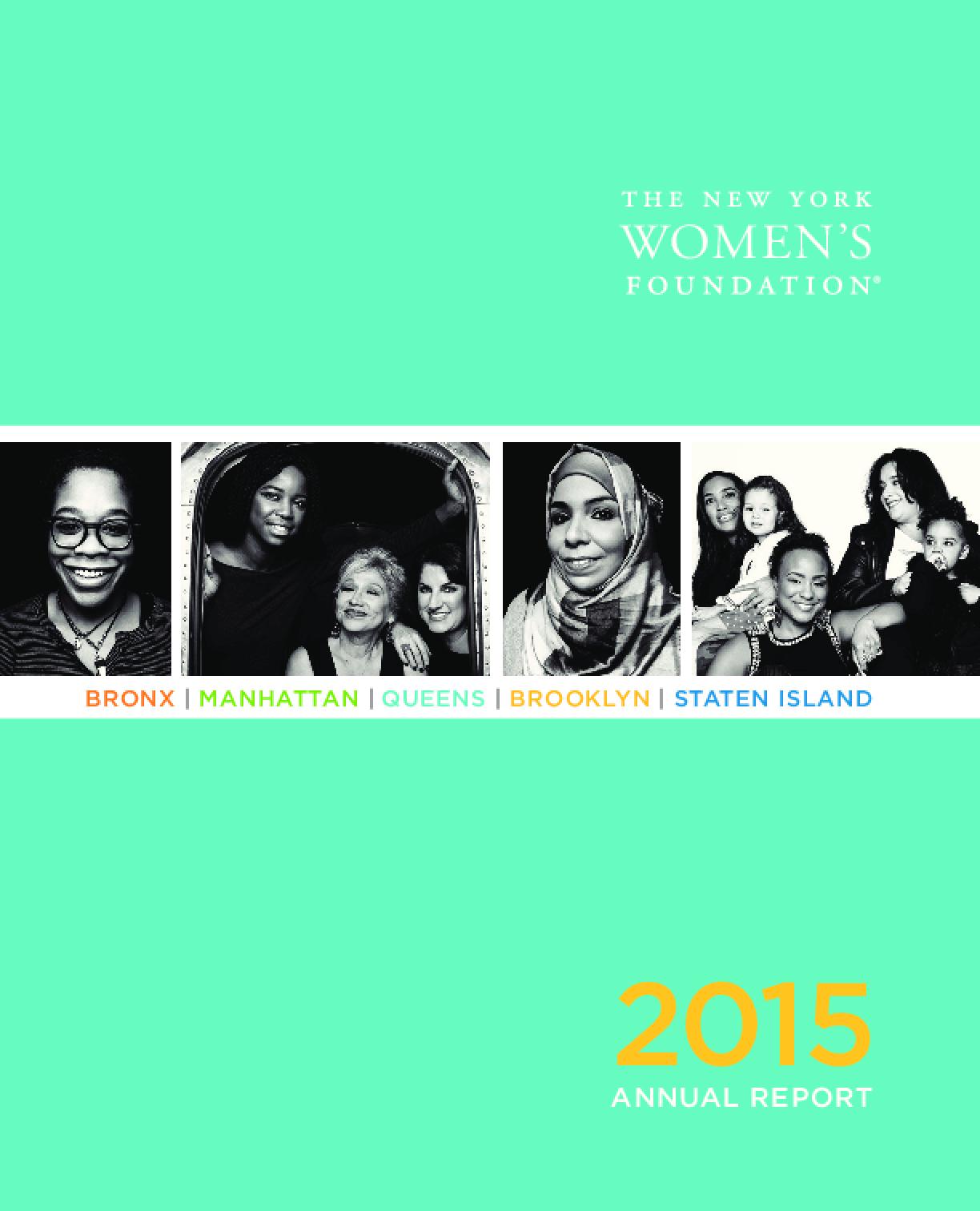 New York Women's Foundation, 2015 Annual Report
