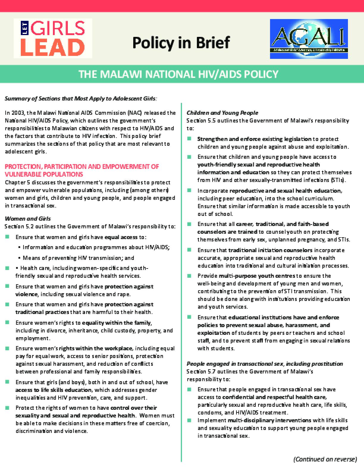 Malawi HIV/AIDS