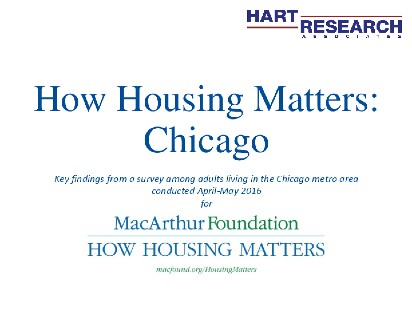 How Housing Matters: Chicago