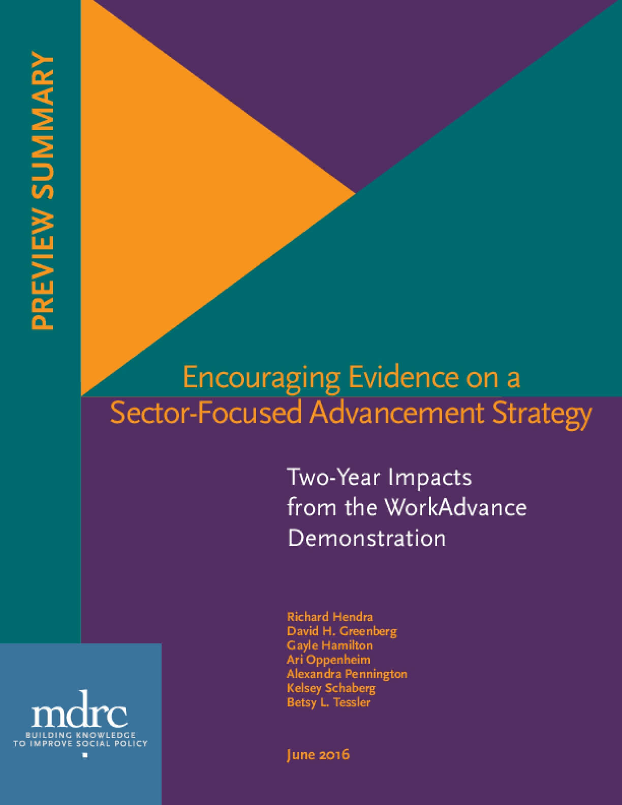 Encouraging Evidence on a Sector-Focused Advancement Strategy: Two-Year Impacts from the WorkAdvance Demonstration