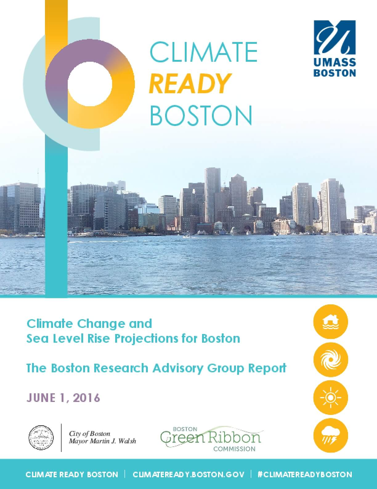 Climate Change and Sea Level Rise Projections for Boston