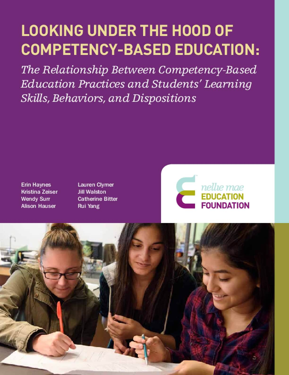 Looking Under the Hood of Competency-Based Education: The Relationship Between Competency-Based Education Practices and Students' Learning Skills, Behaviors, and Dispositions