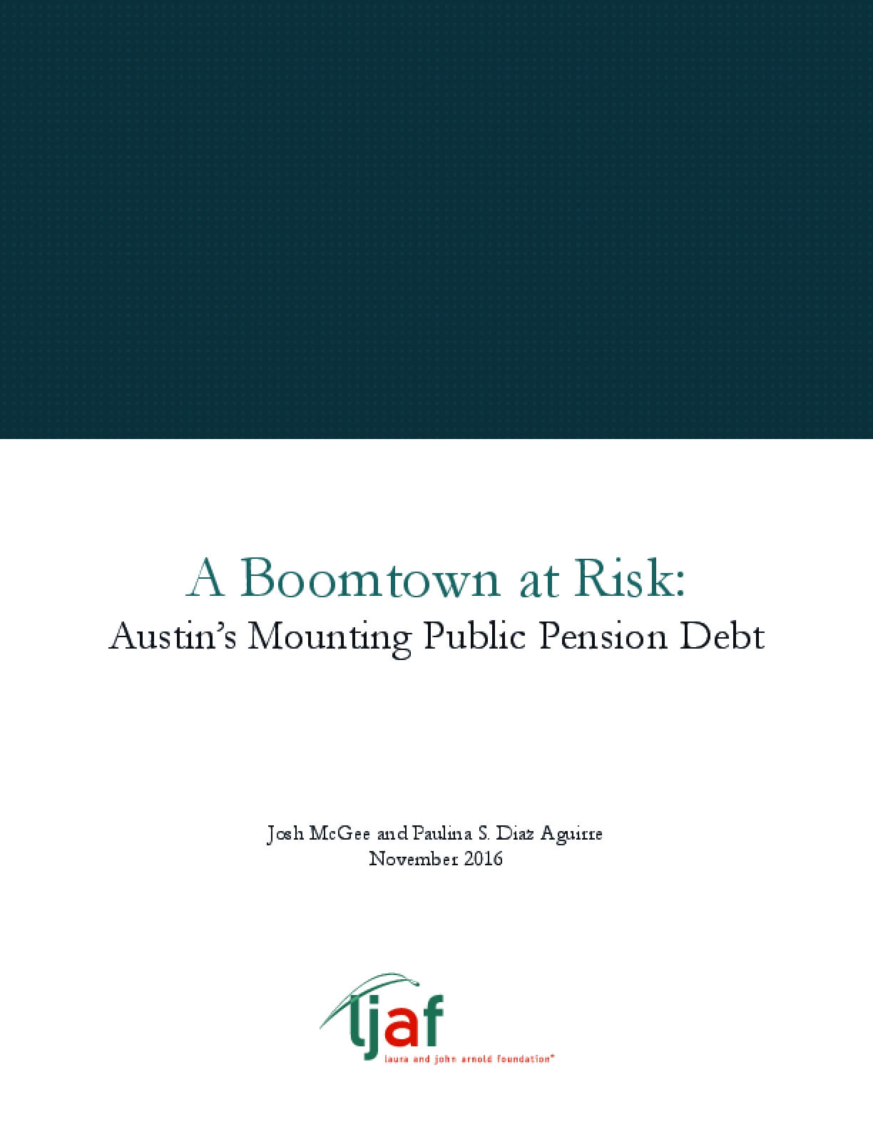 A Boomtown at Risk: Austin's Mounting Public Pension Debt