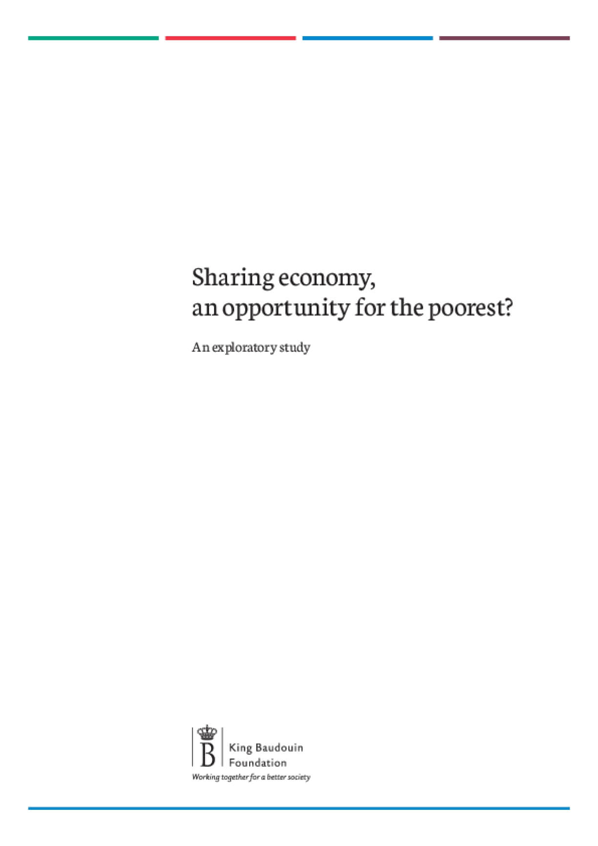 Sharing economy : An opportunity for the poorest? An explanatory study