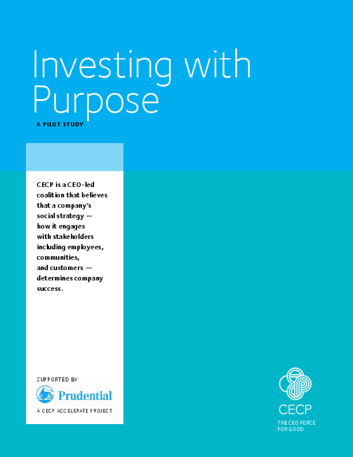 Investing with Purpose: A Pilot Study