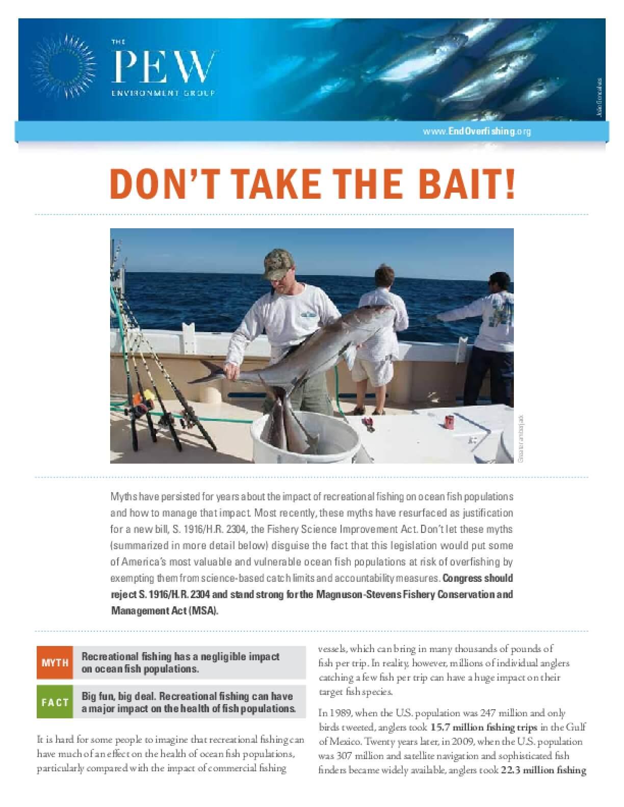 Don't Take the Bait!