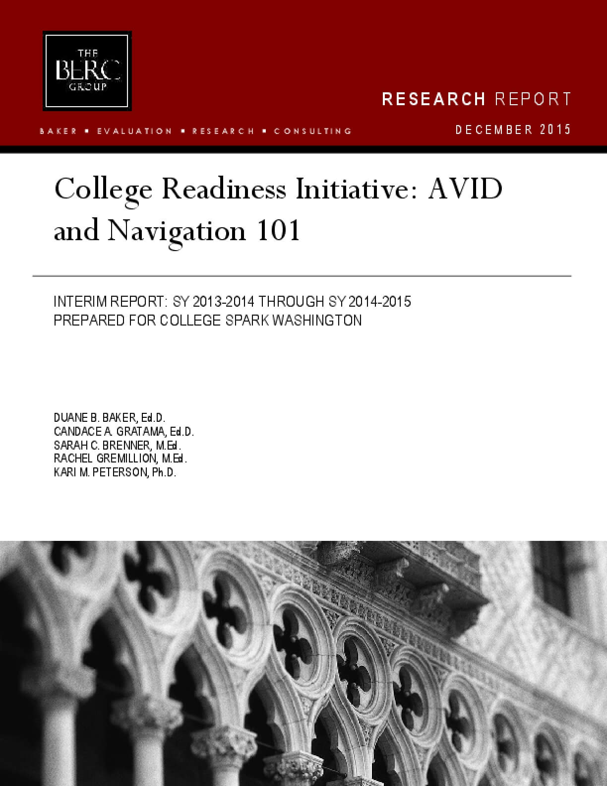 College Readiness Initiative: AVID and Navigation 101