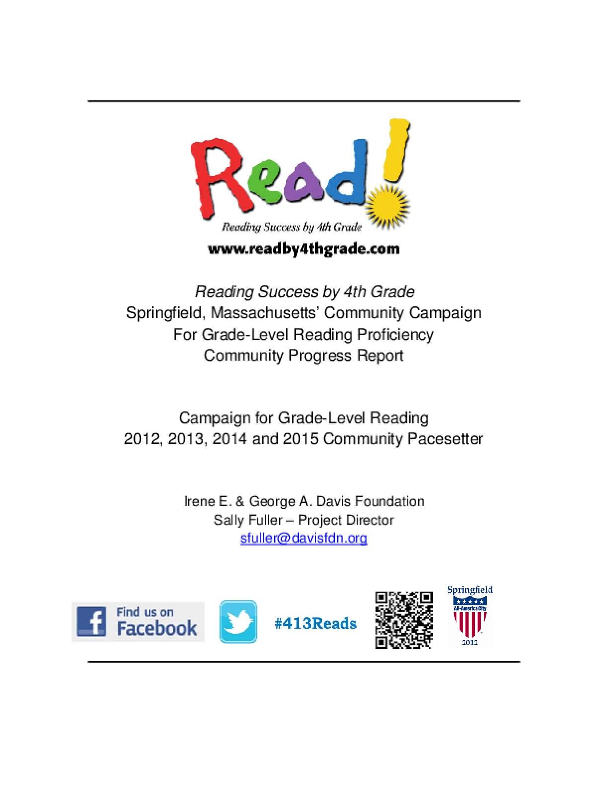 Read! Reading Success by 4th Grade: Community Progress Report