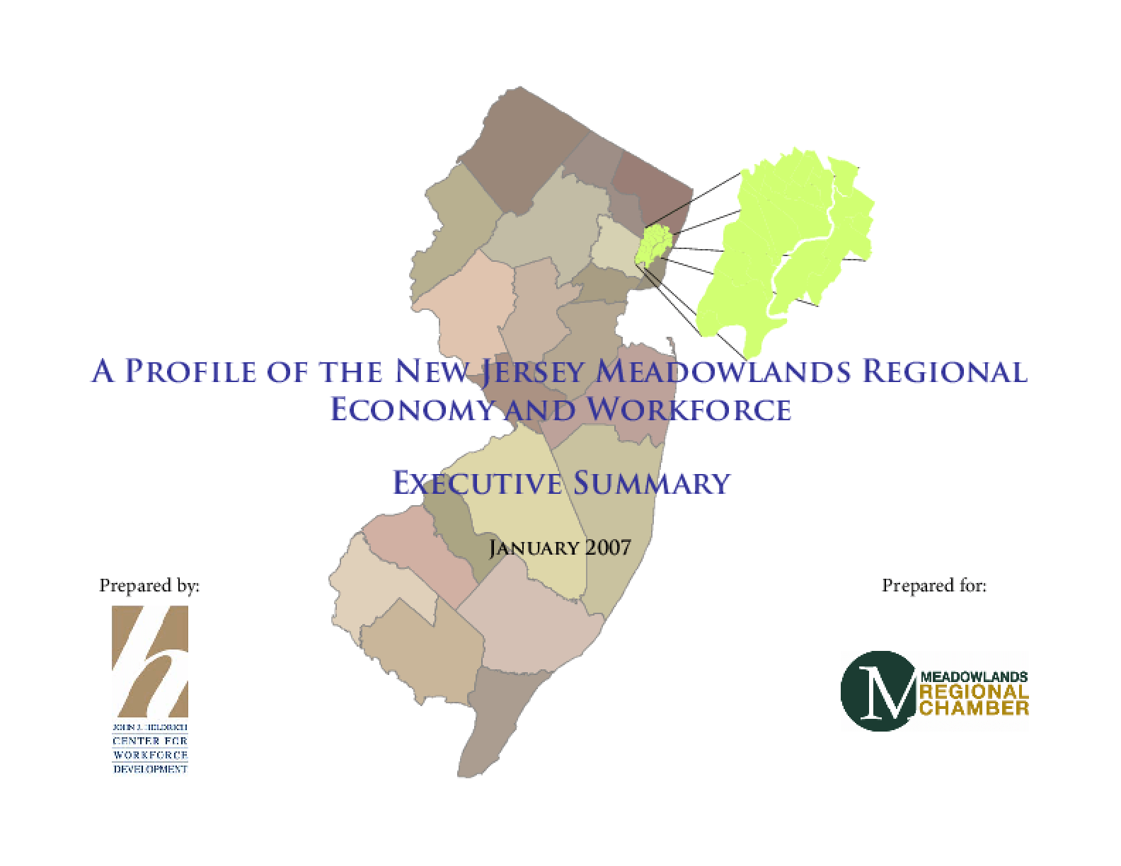 Profile of the Meadowlands Regional Economy and Workforce: Executive Summary