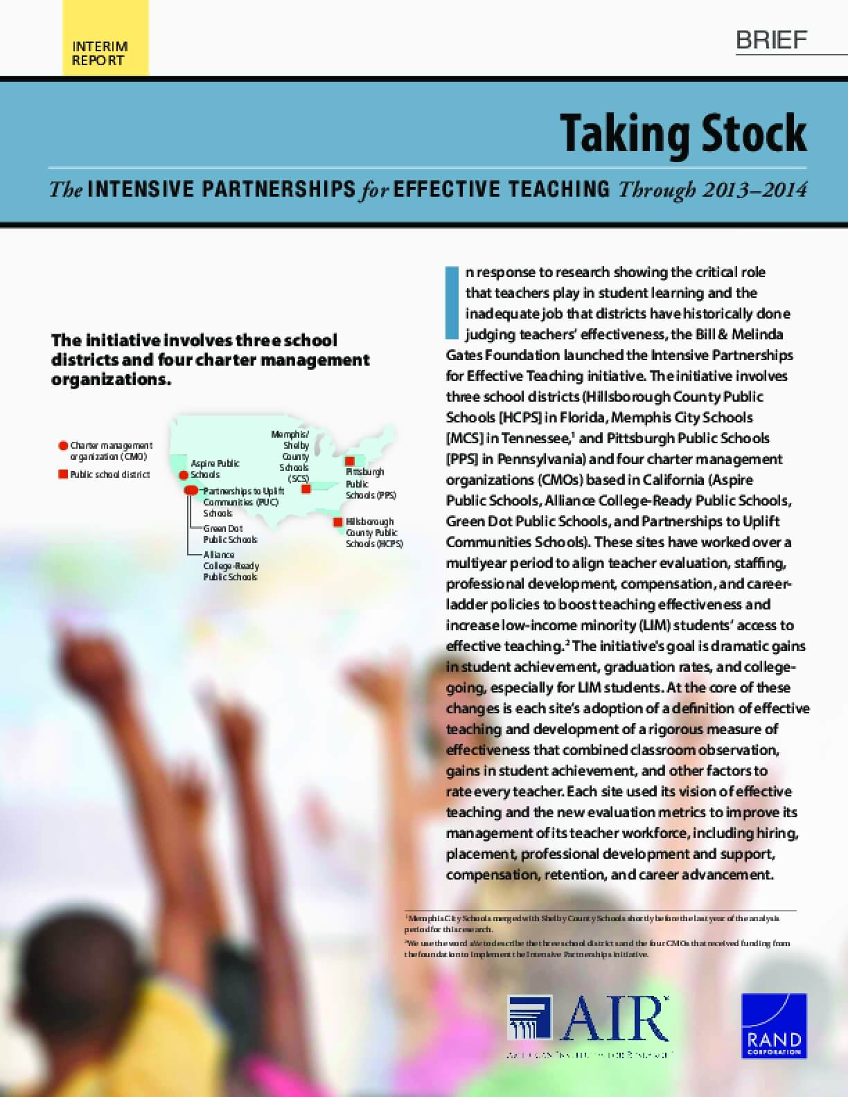 Taking Stock: The Intensive Partnerships for Effective Teaching Through 2013–2014