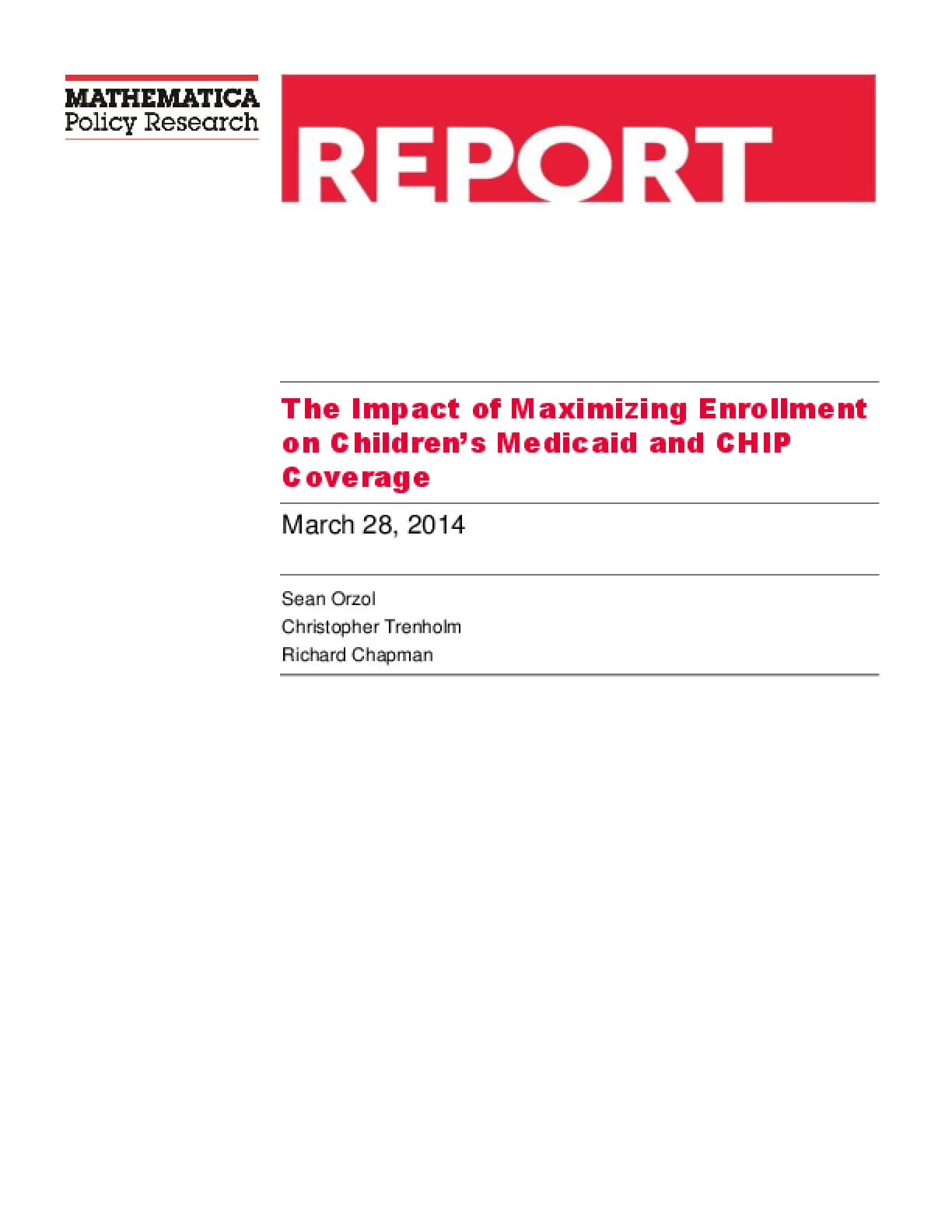Evaluation of Maximizing Enrollment