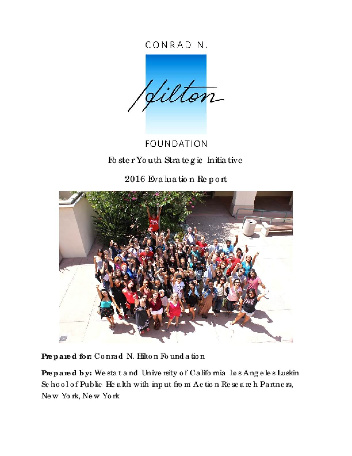Foster Youth Strategic Initiative: 2016 Evaluation Report