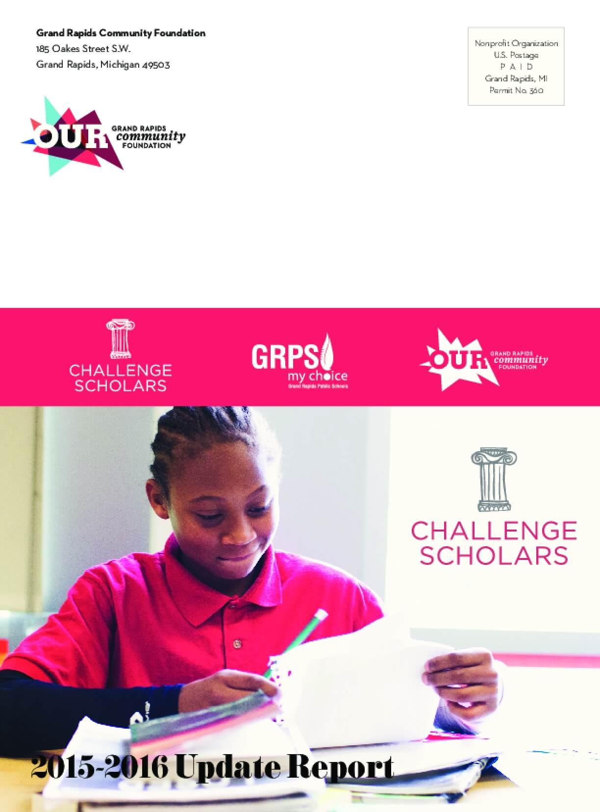 Challenge Scholars 2015-2016 Update Report