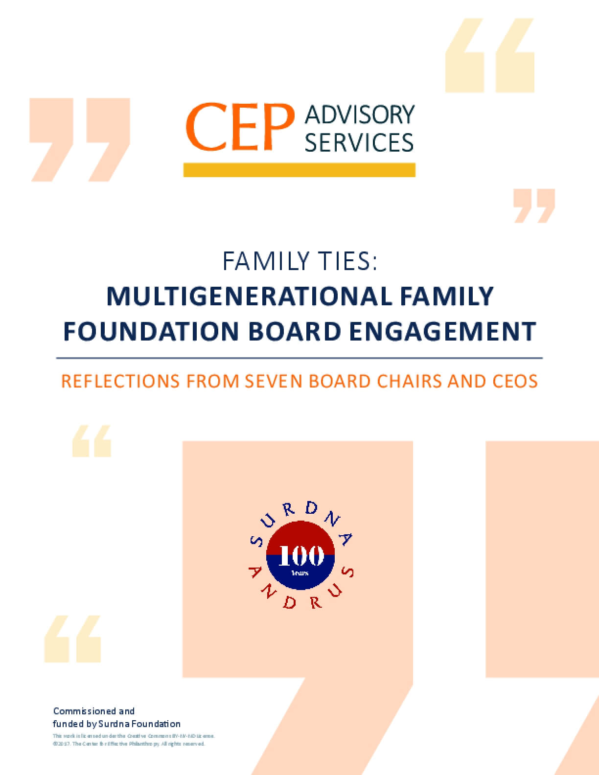 Family Ties: Multigenerational Family Foundation Board Engagement
