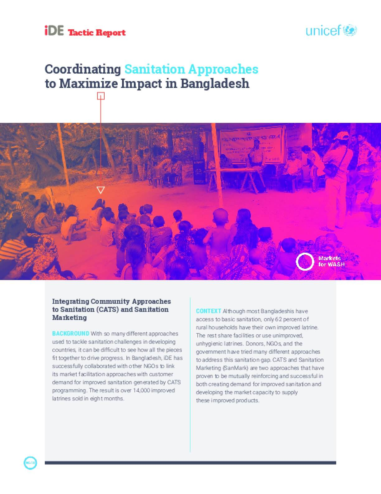 Coordinating Sanitation Approaches to Maximize impact in Bangladesh