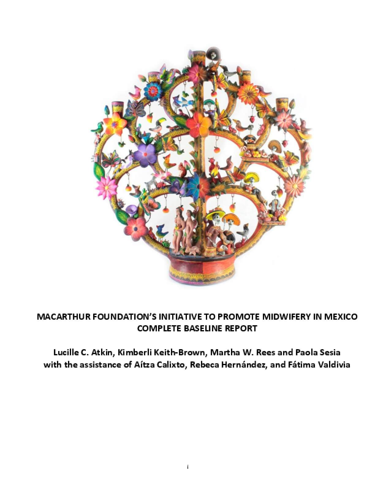 MacArthur Foundation's Initiative to Promote Midwifery in Mexico, Complete Baseline Report